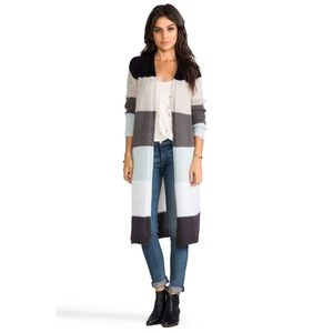 Free People Over the Rainbow Gray Duster Cardigan